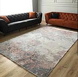 Сучасний килим з вкрапленнями рожево коралового кольору з шовку і бамбука, фото 2