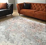 Сучасний килим з вкрапленнями рожево коралового кольору з шовку і бамбука, фото 6