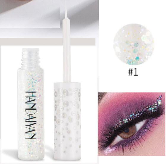 HANDAIYAN цветная блестящая с блестками жидкая подводка для глаз (цена за 1 штуку) макияж