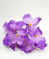 Лиловая гортензия 10см головка искусственный цветок(головка), фото 1