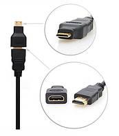 Адаптер для стандартного HDMI кабеля, переходник HDMI - miniHDMI