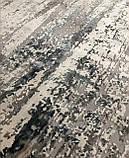 Плотный современный ковер светлый с вкраплениями коричневого, оливкового и синего цвета, фото 4