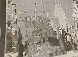 Плотный современный ковер светлый с вкраплениями коричневого, оливкового и синего цвета, фото 5