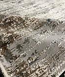 Плотный современный ковер светлый с вкраплениями коричневого, оливкового и синего цвета, фото 8