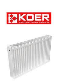 Стальные радиаторы Koer 11 тип500*500(боковое подключение) (Чехия)