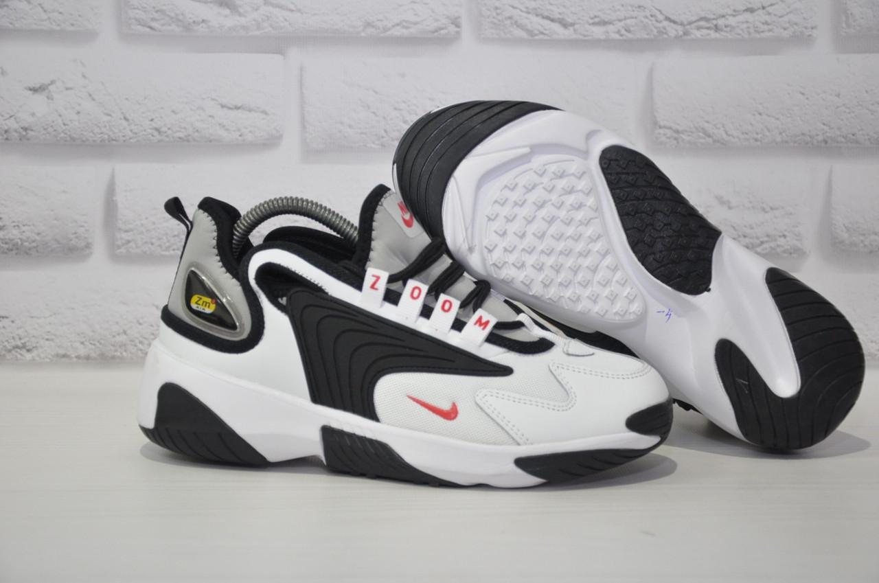 Стильні білі кросівки в стилі найк зум Nike WMNS NIKE ZOOM 2K