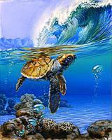 Картина по номерам Babylon Черепаха в море DZ1468 40*50. На холст с подрамником.
