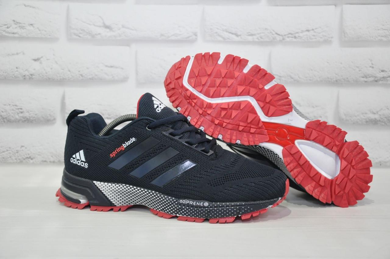 Кросівки чоловічі легкі сітка сині в стилі Adidas Springblade