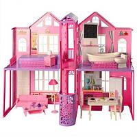 Домик для кукол двухэтажный 85 см (с куклой)