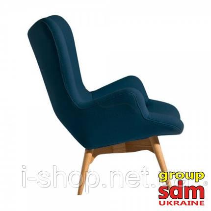 Кресло Флорино, мягкое, дерево бук, цвет синий, фото 2