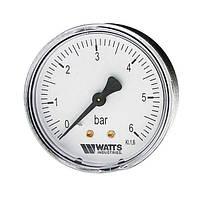 """""""Watts"""" Манометр MDA 50/16, 1/4"""" (50mm 0-16 bar) аксиальный (задний выход)"""