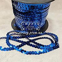 Пайеточная тесьма 6мм Sapphire, 1м