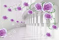 """Фотообои виниловые на флизелиновой основе """"Бутоны роз.3D"""" 368х254см"""