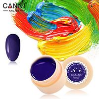 Гель-краска Canni №616 темно-синяя, 5 мл