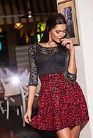 Платье женское с гипюром, фото 1