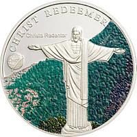 """Срібна монета серії """"Нові 7 чудес світу"""" Статуя Христа-Спасителя, фото 1"""