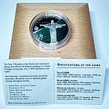 """Срібна монета серії """"Нові 7 чудес світу"""" Статуя Христа-Спасителя, фото 4"""