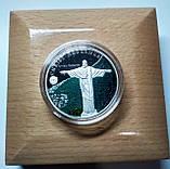 """Срібна монета серії """"Нові 7 чудес світу"""" Статуя Христа-Спасителя, фото 2"""