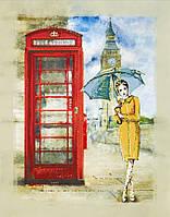 Вышивка бисером картины Идейка Лондонский дождь (ВБ1033) 30 х 40 см