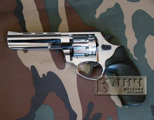 "Револьвер под патрон Флобера Ekol Viper 4,5"" Chrome, фото 2"