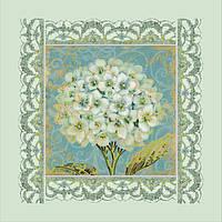 Вышивка бисером Идейка Белая герань (ВБ1017) 30 х 30 см