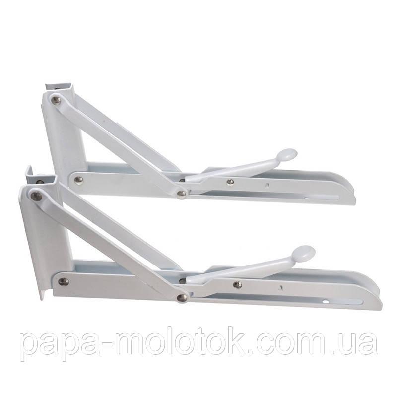 Механизм 195х85 мм. для откидного стола, белый (2 шт)