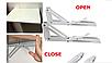 Механизм 195х85 мм. для откидного стола, белый (2 шт), фото 4