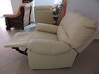 Кожаный диван recliner релакс, шкіряний комплект