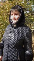 Красивое стеганное зимнее пальто-пуховик Большие размеры