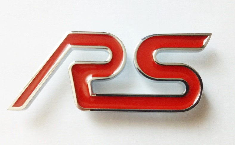 Шильдик напис RS (red) на кришку багажника