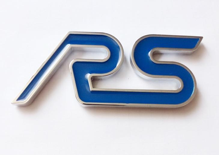Шильдик надпись RS (blue) на крышку багажника