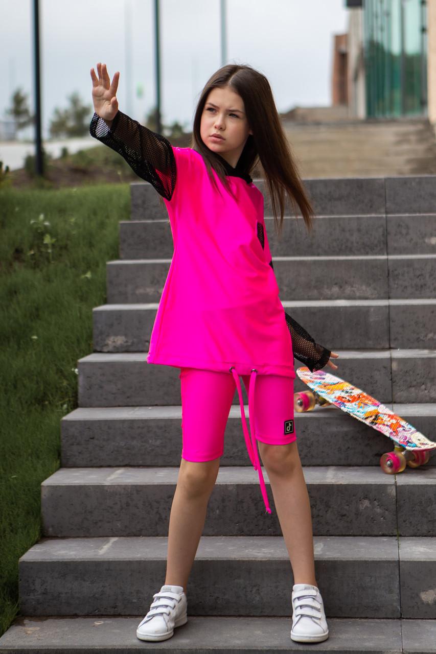 Неоновый детский костюм на девочку SH-114