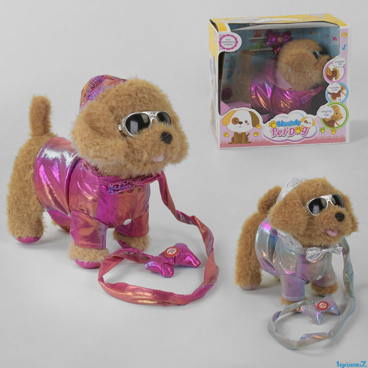 Мягкая игрушка Собачка 43979 2 вида, песня на русском языке, ходит