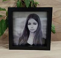 Рамка для фото черная 20х20 см