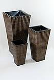 Квітковий горщик, кашпо з ротанга Antonio 70см. чорний, фото 6