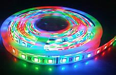 Светодиодная LED лента 5050 RGB 12V цветная, разноцветная LED 5м Светодиодная лента в комплекте SMD 5050 RGB, фото 3
