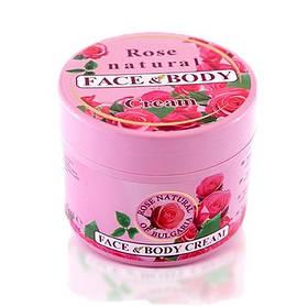 Универсальный крем для лица и тела на основе розовой воды Rose Natural of Bulgaria