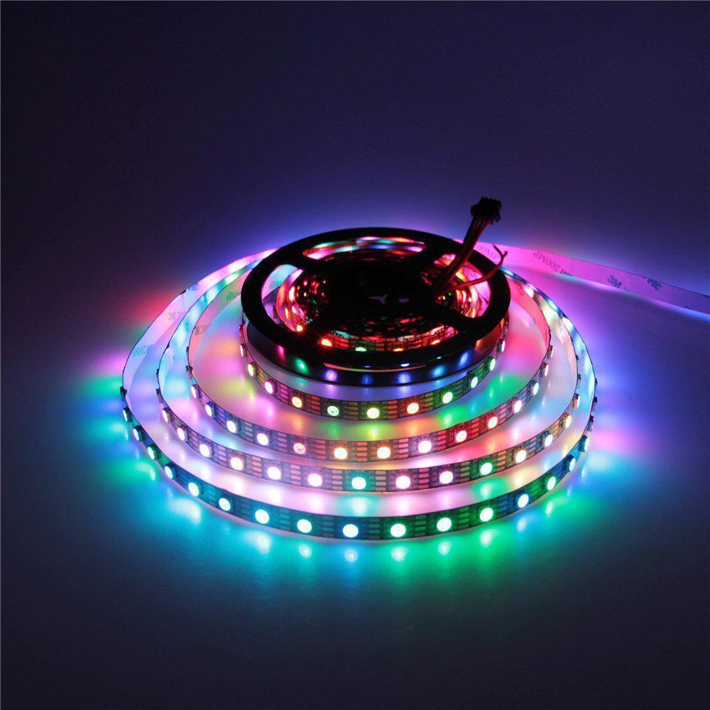 Светодиодная LED лента 5050 RGB 12V цветная, разноцветная LED 5м Светодиодная лента в комплекте SMD 5050 RGB