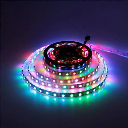 Светодиодная LED лента 5050 RGB 12V цветная, разноцветная LED 5м Светодиодная лента в комплекте SMD 5050 RGB, фото 2