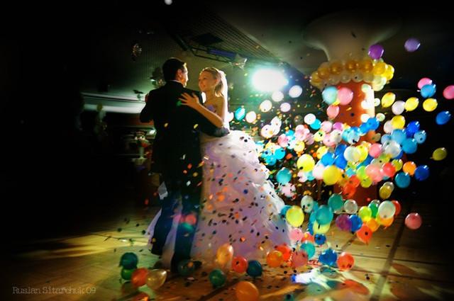 шарик сюрприз на свадьбе