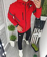 Спортивный мужской костюм с капюшоном в расцветках 60695, фото 1