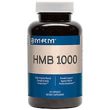 """Гидроксиметилбутират MRM """"HMB 1000"""" для увеличения мышечной массы, 1000 мг (60 капсул)"""