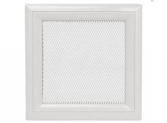 Вентиляционная решетка для камина KRATKI Oskar 22х22 см белая