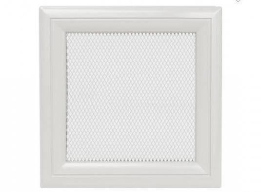 Вентиляционная решетка для камина KRATKI Oskar 22х22 см белая, фото 2