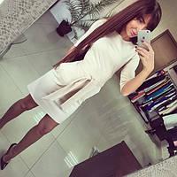 Женское стильное платье с пояском (2 цвета)