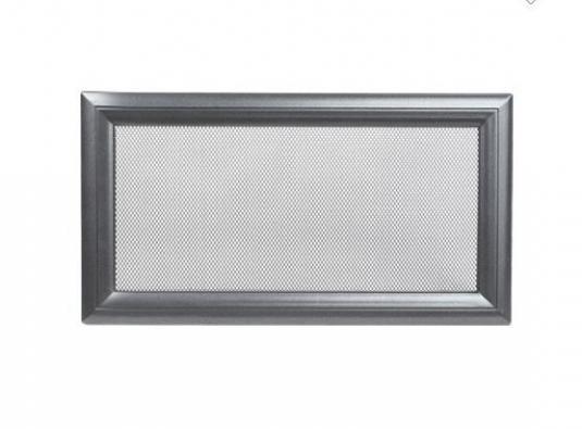 Вентиляционная решетка для камина KRATKI Oskar 17х30 см графитовая