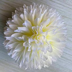 Головка хризантемы люкс 10 см белый