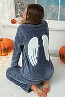 Теплая махровая пижама штаны и кофта с крыльями ангела