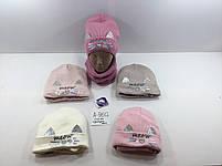 Комплект для девочки (шапка+хомут ) Размер 48-52 см Возраст 2-5 лет, фото 3