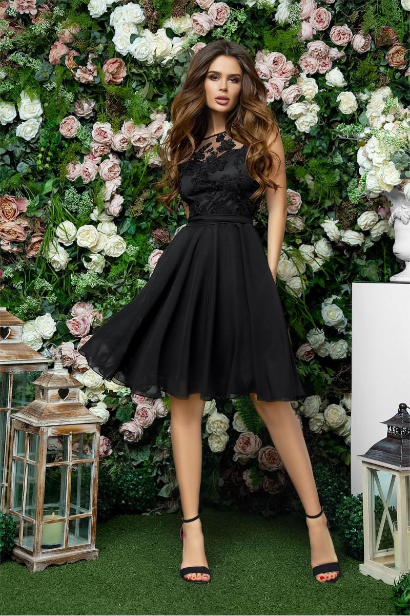 Чёрное нарядное женское платье 42,44,46